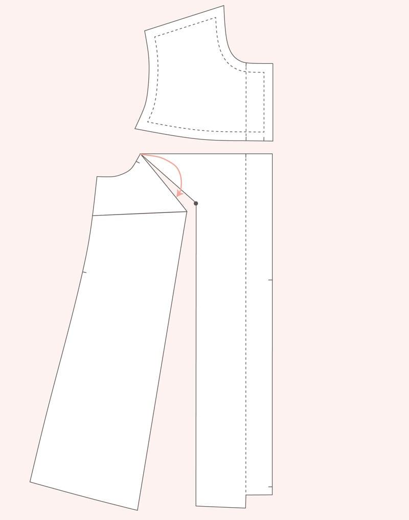 Full Bust Adjustment on Dartless bodice pattern // Closet Case Patterns