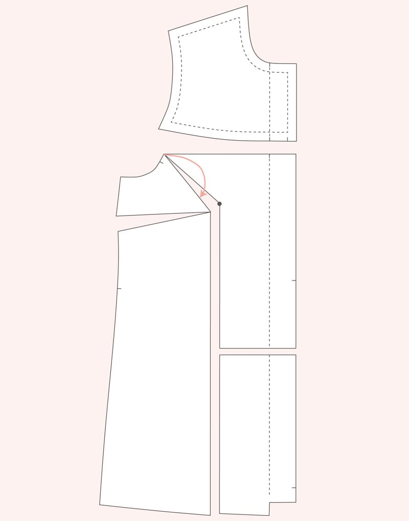 Full Bust Adjustment on Dartless bodice pattern // Closet Case Patterns