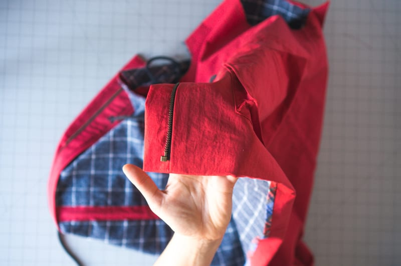 How to sew a zipper placket for an unlined jacket like the Kelly Anorak // Closet Case Patterns