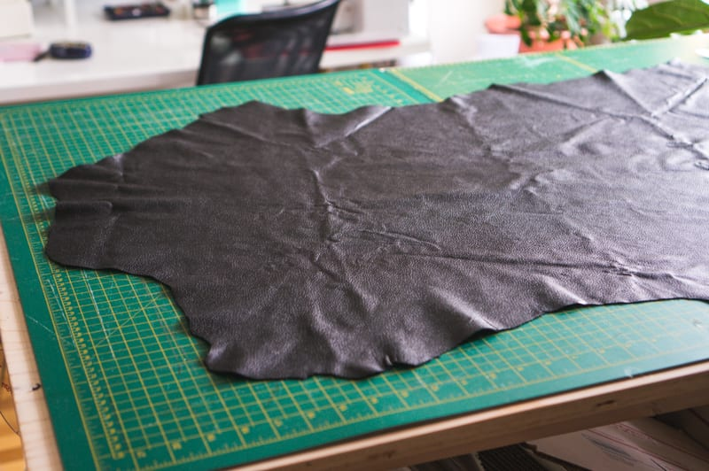Leather hide ready for cutting // How to Sew Leather & Faux Leather // Closet Case Patterns
