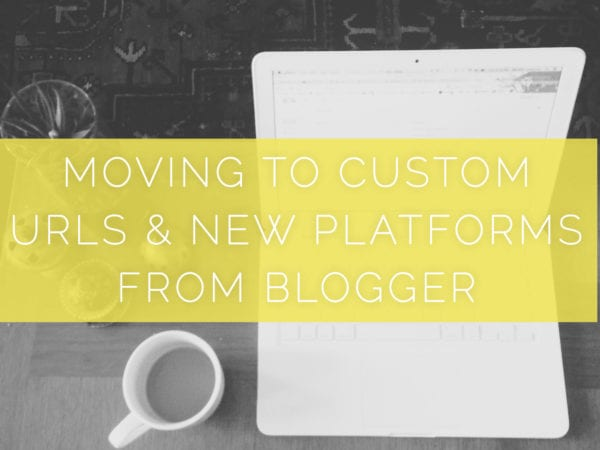 custom URL and different platforms from Blogger
