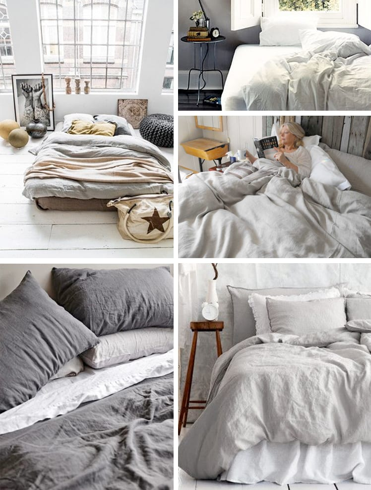 Handmade linen bedding, duvets and sheets// Closet Case Files