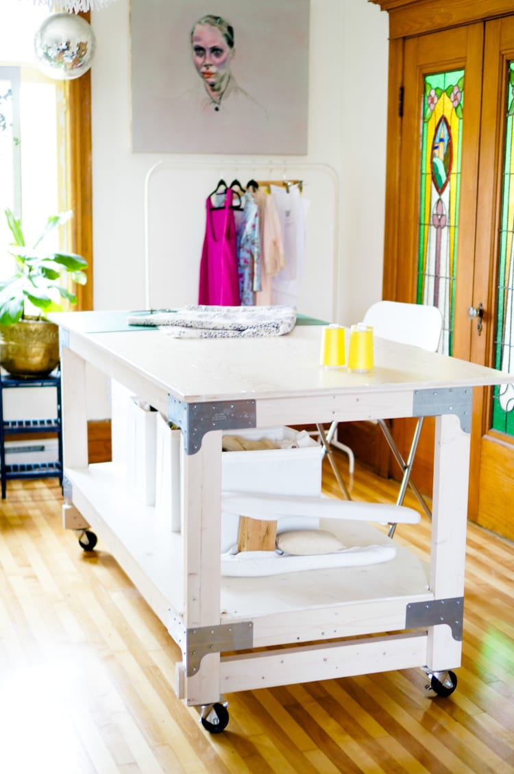 Sewing & Cutting Table DIY for Your Craft or Sewing Studio | Closet ...