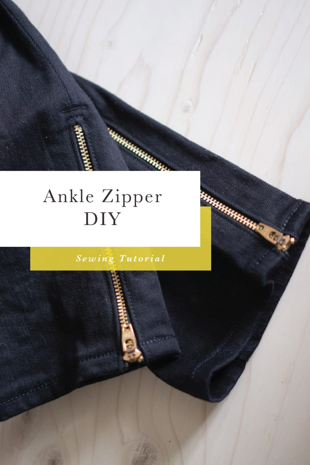 How to add an ankle zipper to jeans - tutorial // Closet Case Patterns