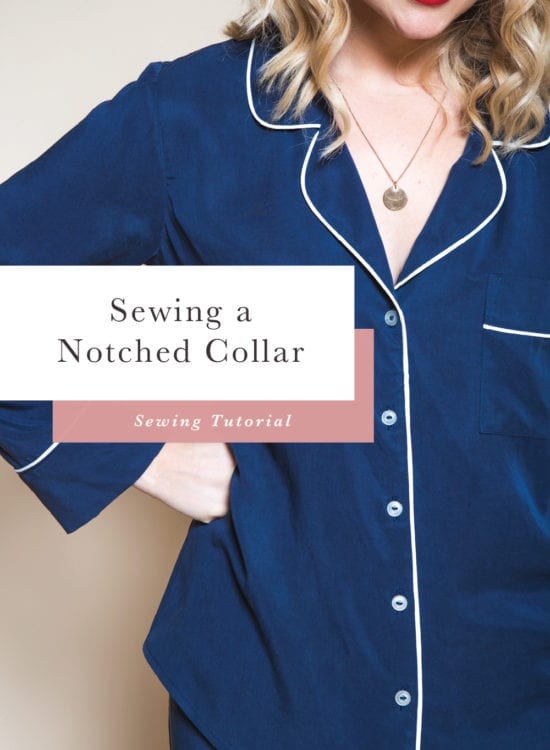 How to Sew a Notched Collar // Carolyn Pajamas // Closet Case Patterns