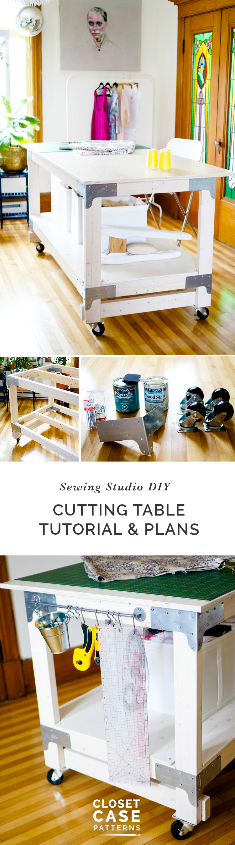 Cutting Table Tutorial & Plans // Simple Studio DIY // Closet Case Patterns
