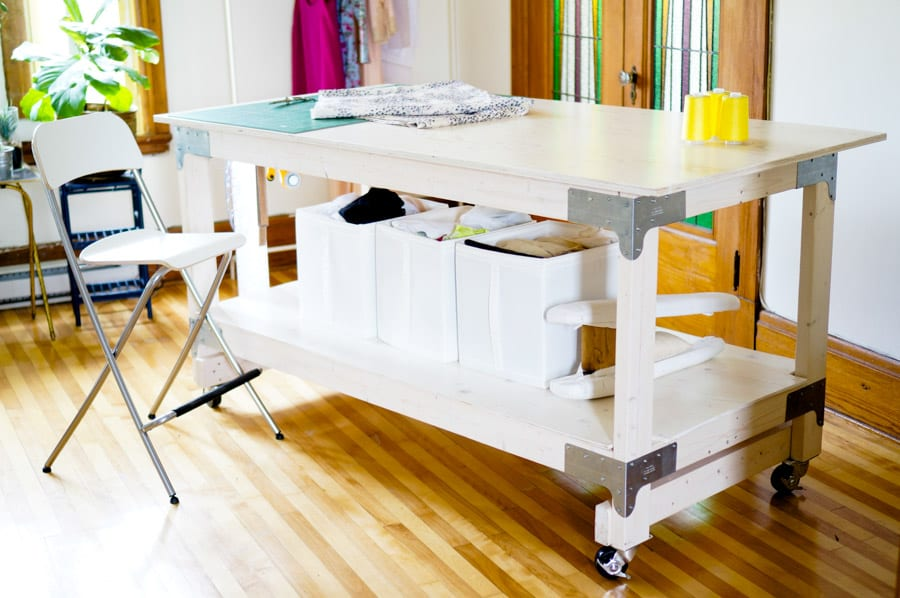 If You Sew A Lot, There Are Few Things In The World More Desirable Than A  Sturdy Table You Can Work At Without Stooping Over. I Have Lower Back  Issues From ...