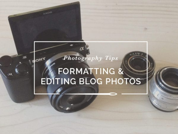 editing formatting photos