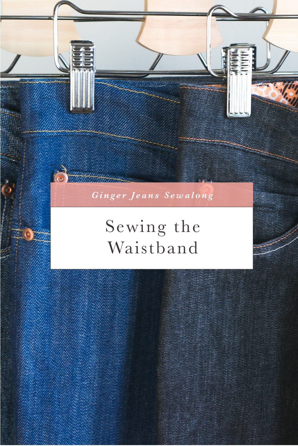 How to sew a jeans waistband // Ginger Jeans Sewalong // Closet Case Patterns