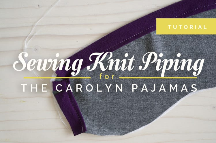 sewing piping in knits