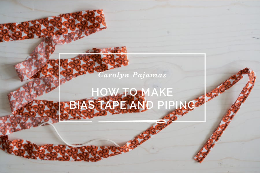 bias tape and piping tutorial