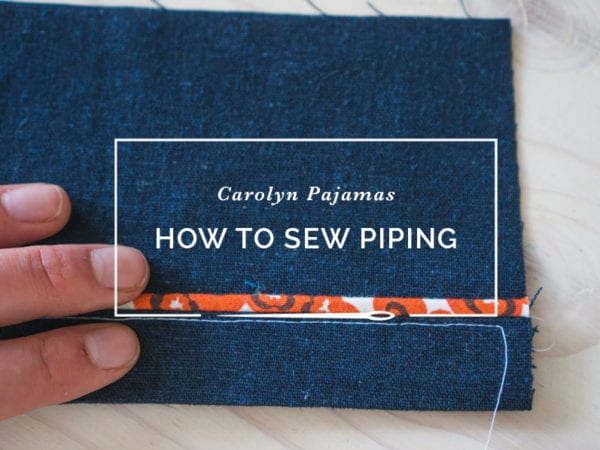 sewing and inserting piping