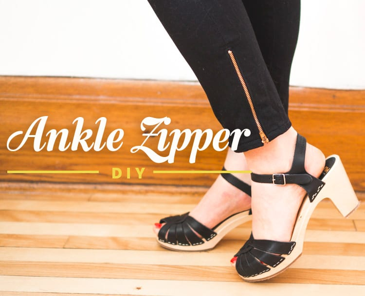 ankle zipper jeans DIY tutorial