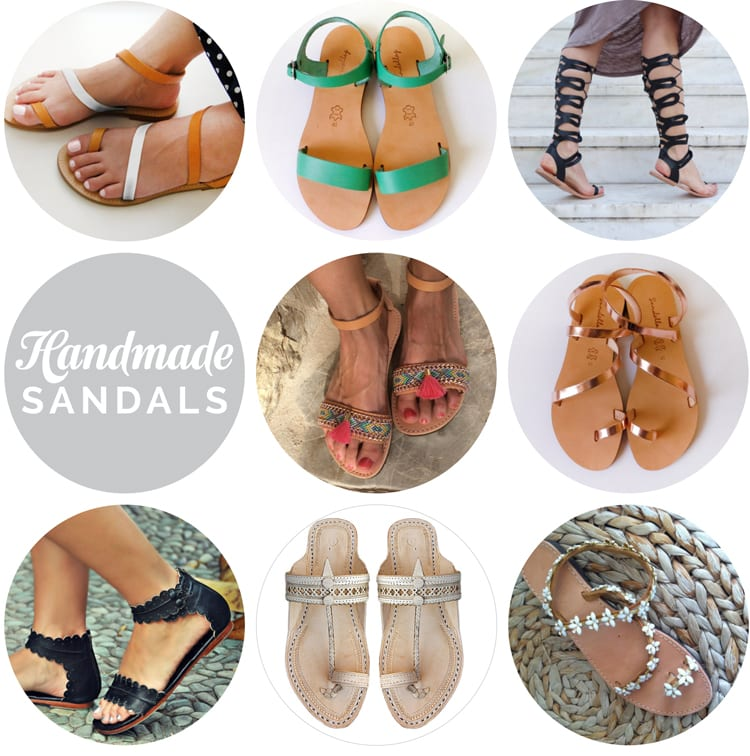 handmade leather Greek sandals