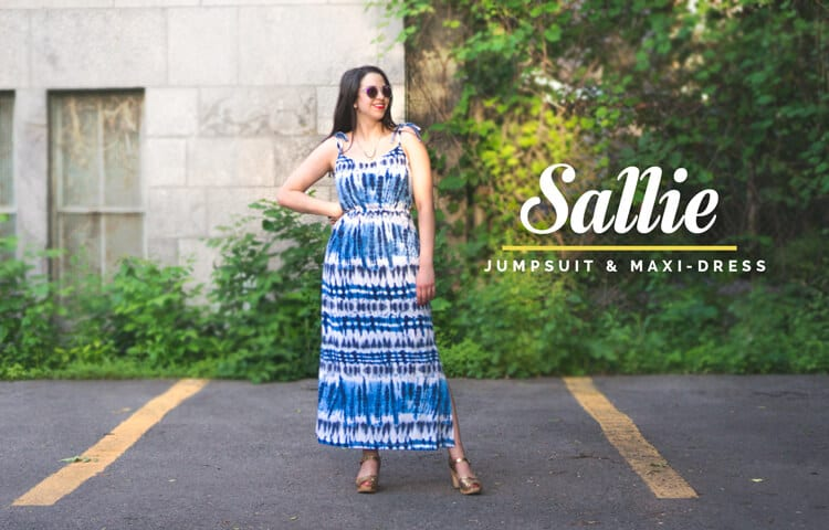 Sallie Jumpsuit and Maxi Dress sewing pattern // Closet Case Files // http://store.closetcasefiles.com