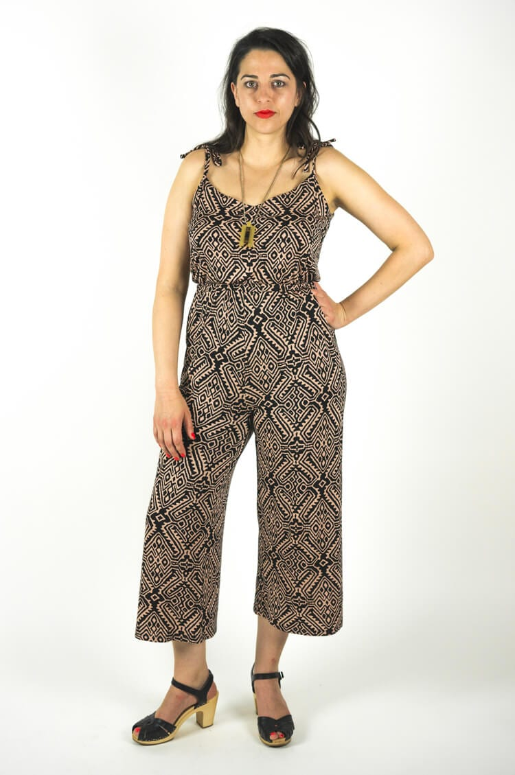 Sallie Jumpsuit and Maxi Dress sewing pattern // Strappy tank top + culottes variation // Closet Case Files // http://store.closetcasefiles.com