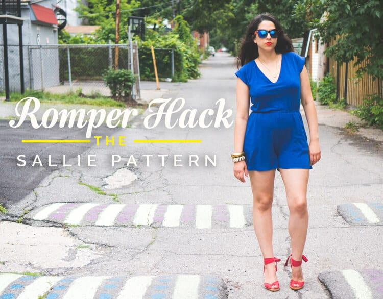 Sallie Jumpsuit pattern // Pattern hacking a romper pattern // Closet Case Files