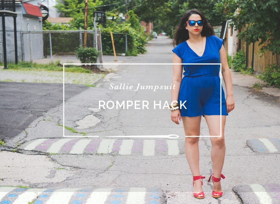 Sallie Jumpsuit pattern // Pattern hacking a romper pattern // Closet Case Patterns