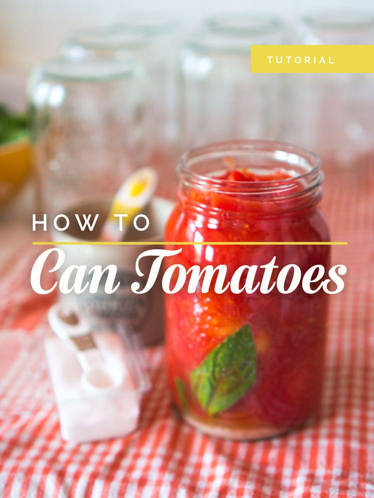 How to Can Tomatoes at home // Closet Case Files