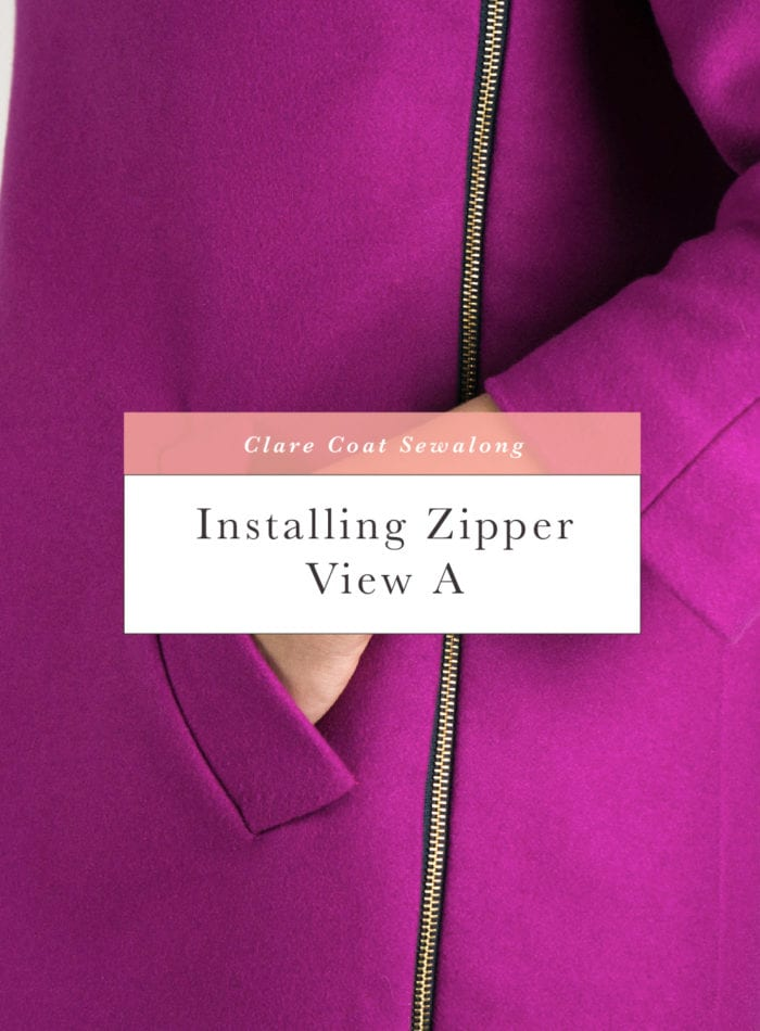 How to insert and sew a coat zipper and zipper placket // Clare Coat Sewalong // Closet Case Patterns