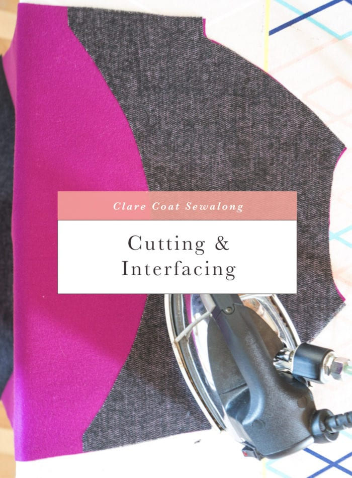 Cutting and prepping coat // Clare Coat Sewalong // Closet Case Patterns