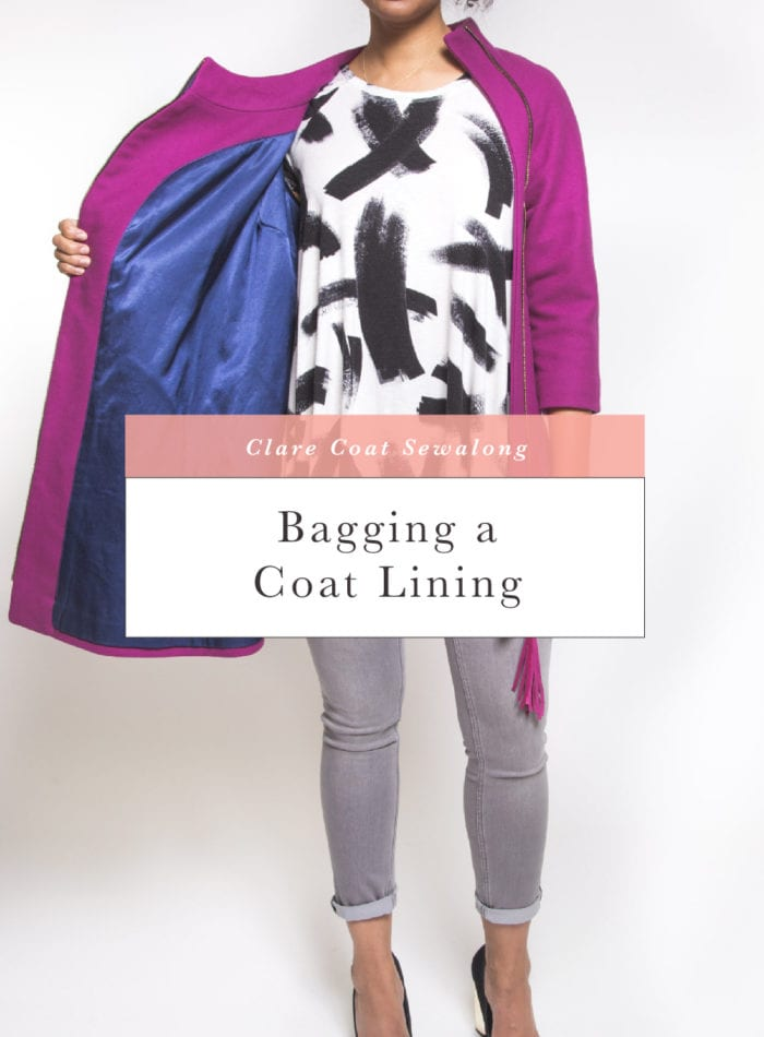 How to bag a coat lining // Clare Coat Sewalong // Closet Case Patterns