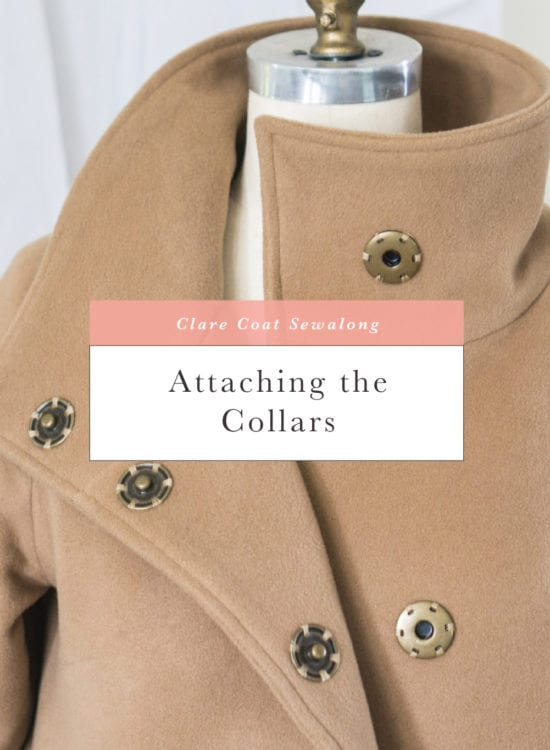 Sewing a funnel collar // Clare Coat Sewalong // Closet Case Patterns