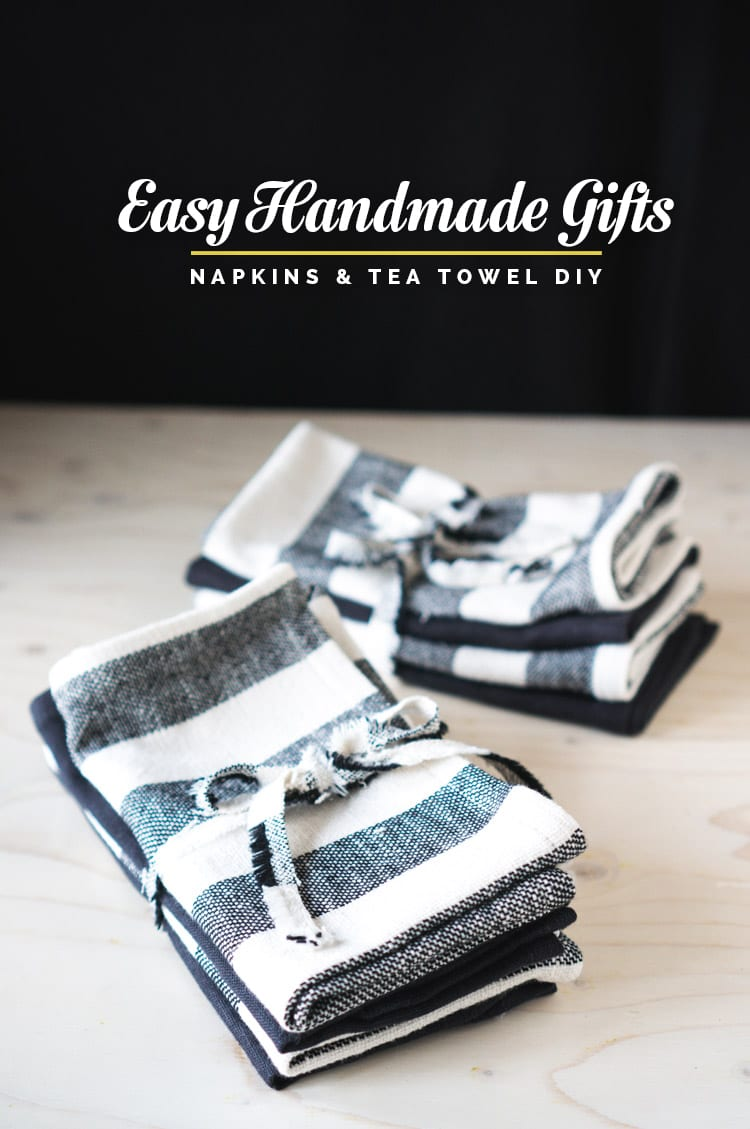 Easy Handmade Gifts // Linen napkin and tea towel DIY // Closet Case Files