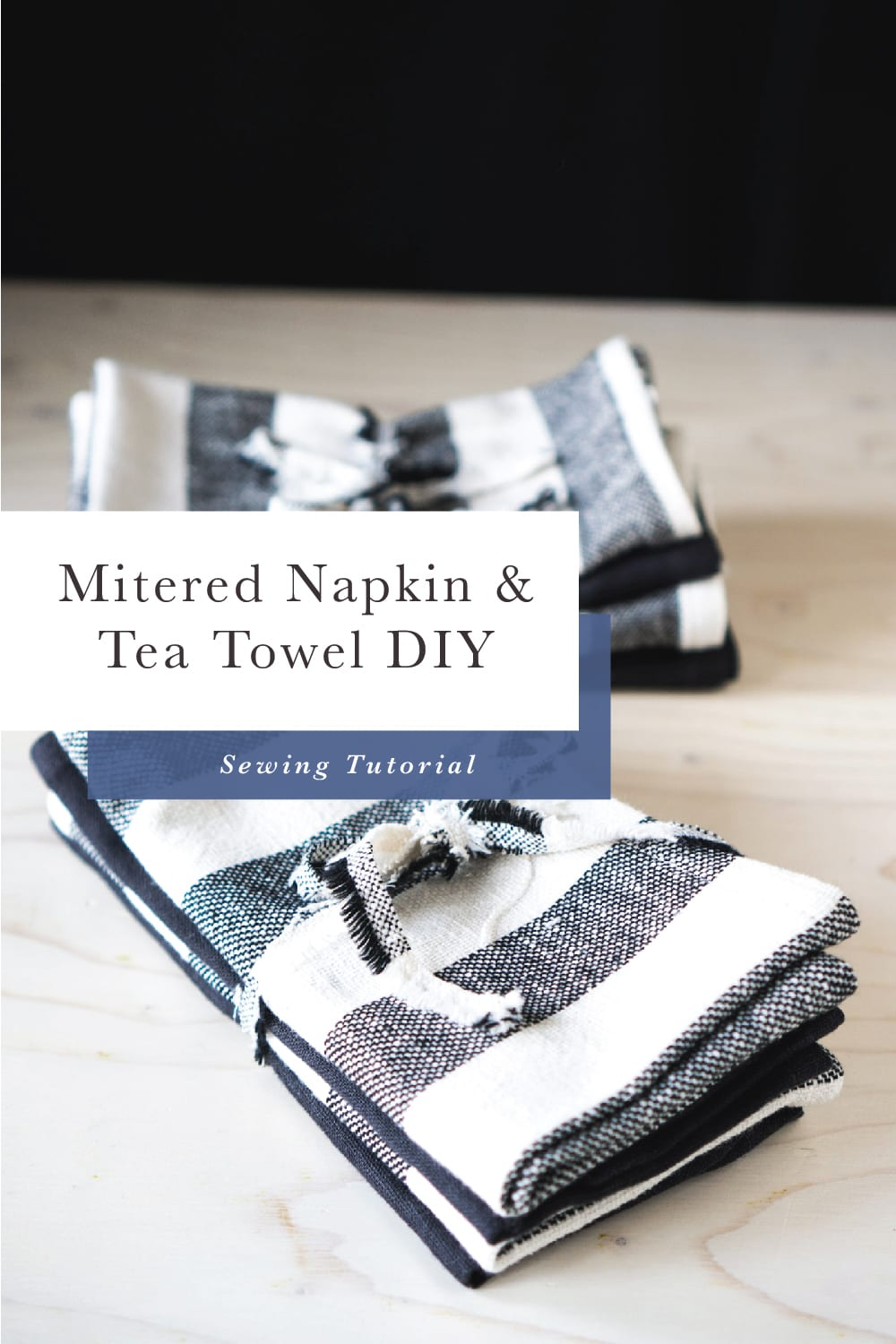 Easy Handmade Gifts // How to sew napkins and tea towels // Closet Case Files