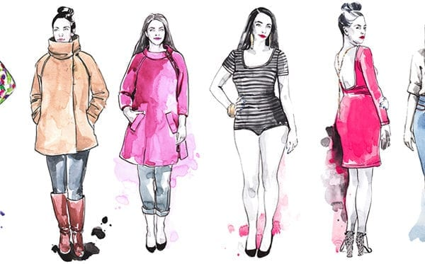 Pattern fashion illustrations by Sallie Oh // Closet Case Files