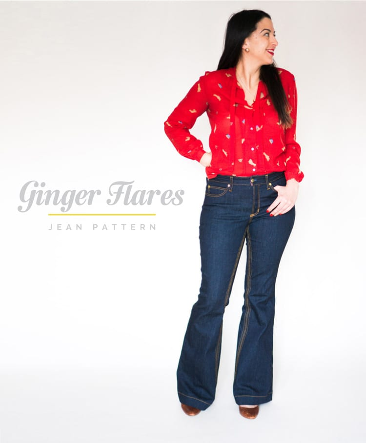 Flared Jeans Pattern // Ginger Pattern Expansion // Closet Case Files