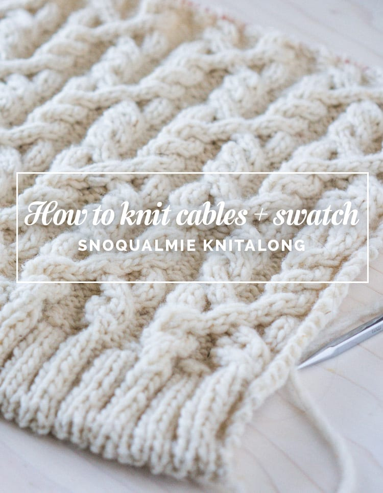 Snoqualmie Knitalong How To Knit Cables Swatching Closet Case