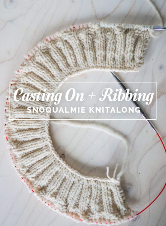 How to knit a tubular cast on and ribbing // Snoqualmie Knitalong // Closet Case Files