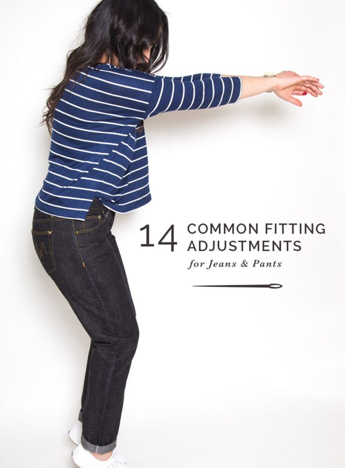 Common Jeans FItting Adjustments for Best Fitting Jeans // Closet Case Patterns