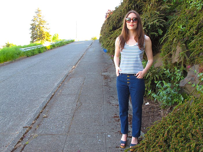 Morgan Boyfriend Jeans pattern // Closet Case Files