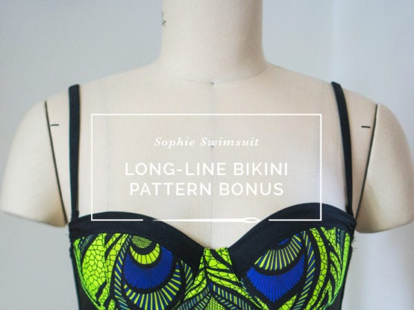 Long line bikini top // Pattern download bonus // Closet Case Files