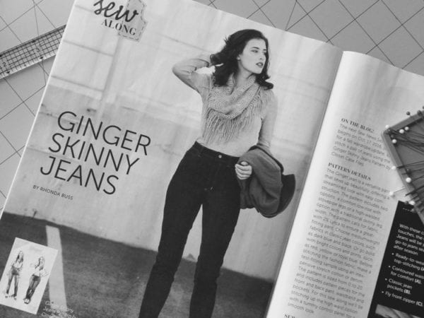 Ginger Jeans in Simply Sewing magazine