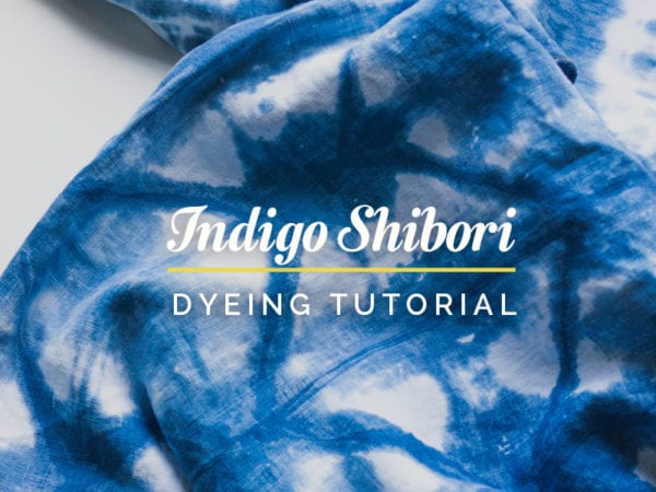 Shibori Dyeing turorial // Closet Case Patterns