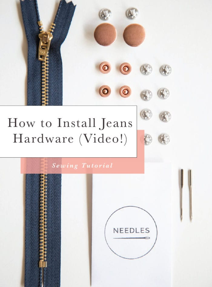 How to install Jeans Hardware (including jeans buttons and rivets) at home // VIDEO // Closet Case Files