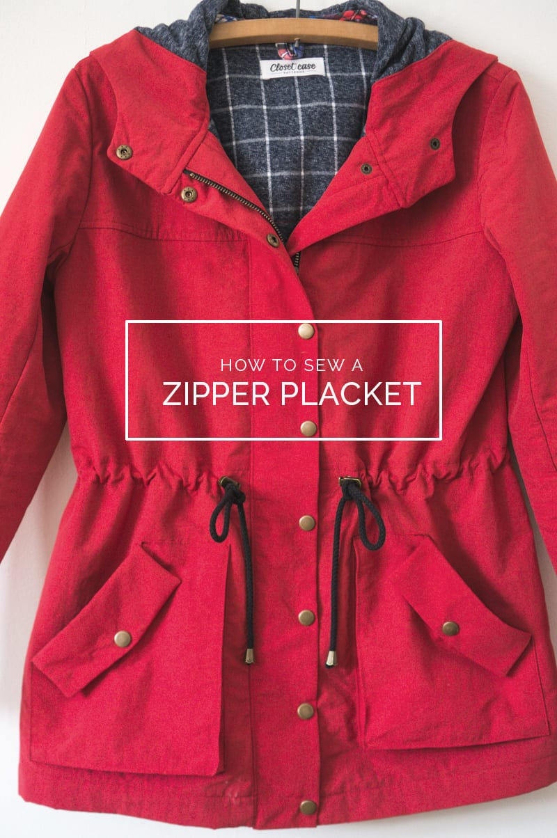 HOW TO SEW A ZIPPER PLACKET FOR THE KELLY ANORAK