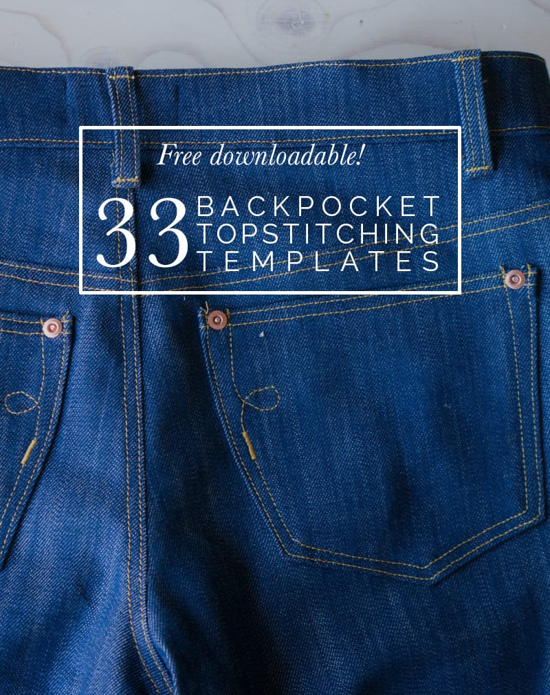 Free Downloadable! 33 Back Pocket Designs | Closet Case Patterns