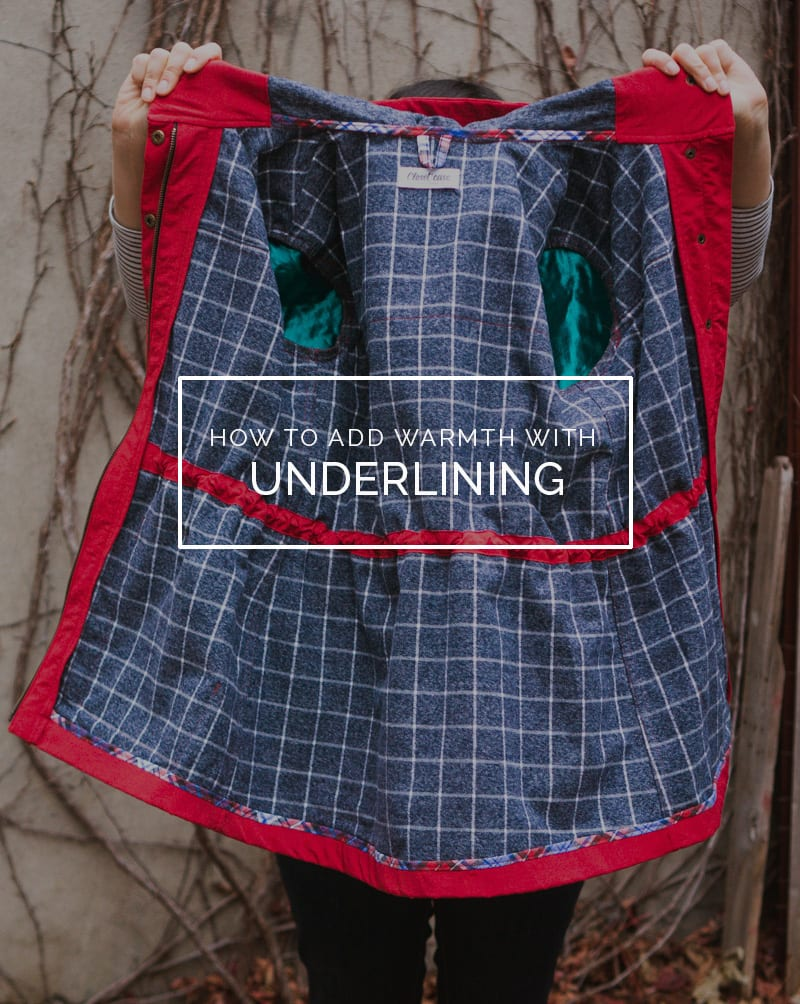 Underlining the Kelly Anorak jacket pattern with cotton flannel for warmth // Closet Case Patterns