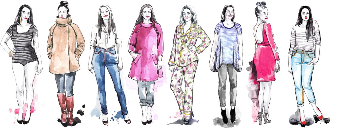 Closet Case Patterns // Watercolour Fashion Illustrations