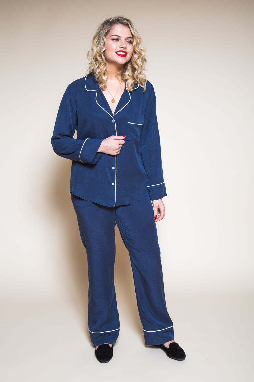 Carolyn Pajamas Pattern // Silk pajamas // Closet Case Patterns