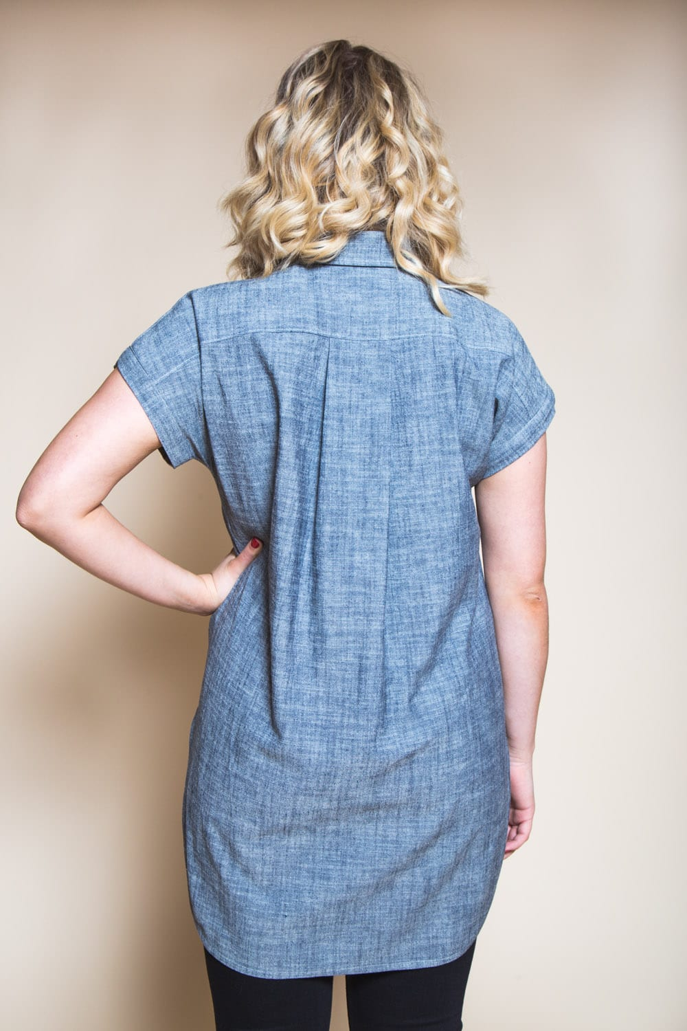 Kalle Shirt Pattern // Button-down tunic with popover placket // Closet Case Patterns