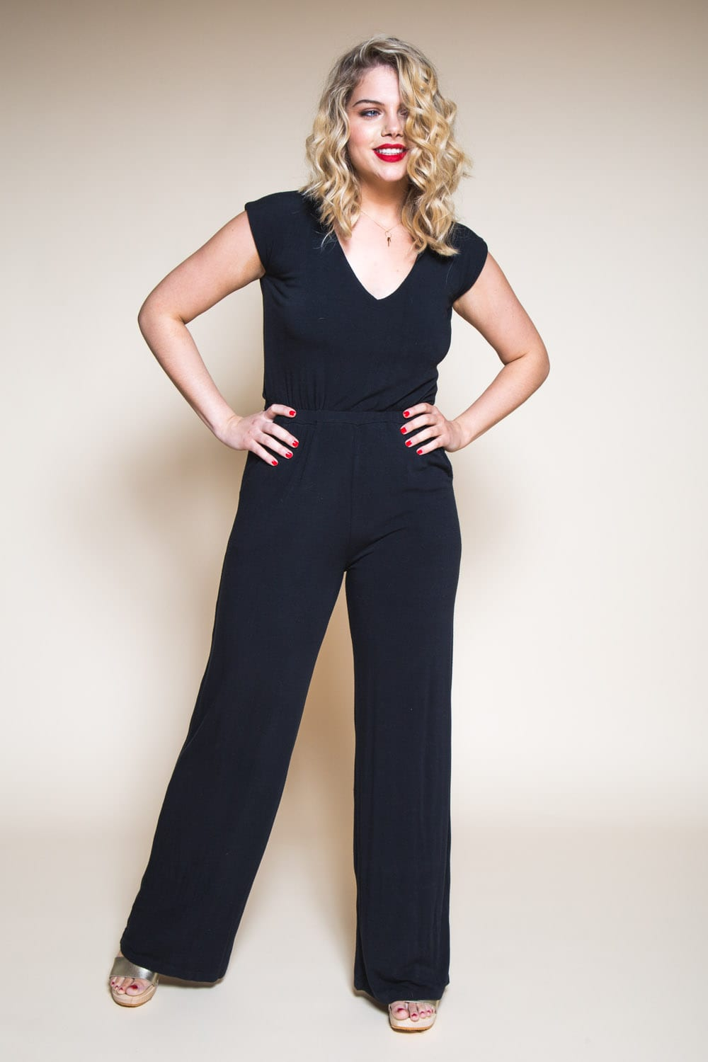 Sallie Jumpsuit Pattern // Womens jumpsuit pattern // Closet Case Patterns
