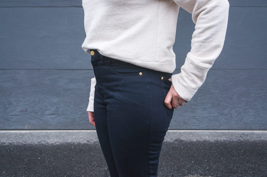 Toaster Sweater by Sew House Seven + Black Ginger Jeans // Closet Case Patterns