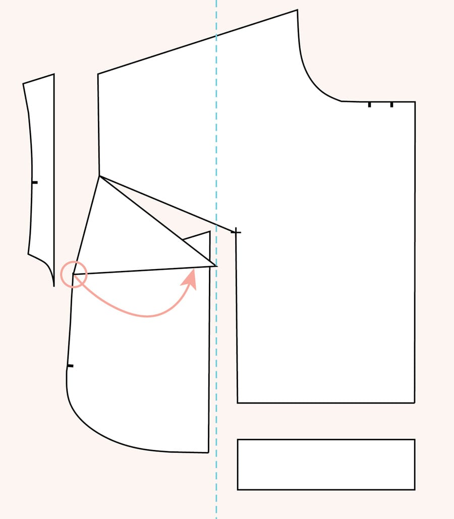 Full bust adjustment for kimono sleeve and dartless bodice // Closet Case Patterns