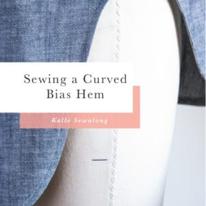 Finishing Curved Hem with Bias Tape & Sewing Side Seams // Kalle Sewalong
