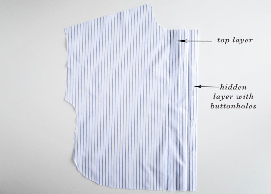 How to sew a hidden button placket on a shirt // Kalle Shirtdress Sewalong // Closet Case Patterns